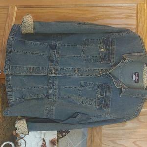 Plus size jean jacket